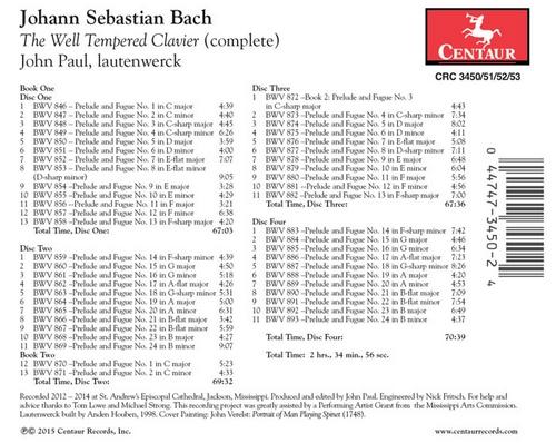 Music Island Bach The Well Tempered Clavier Centaur